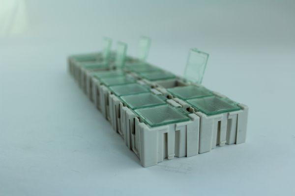 1x 20 Leere Container Box für SMD Bauelemente