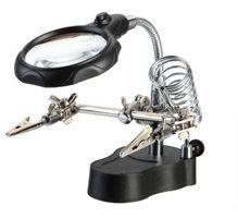 ZD-126-2 Dritte Hand Löthilfe mit Lupe und LEDs
