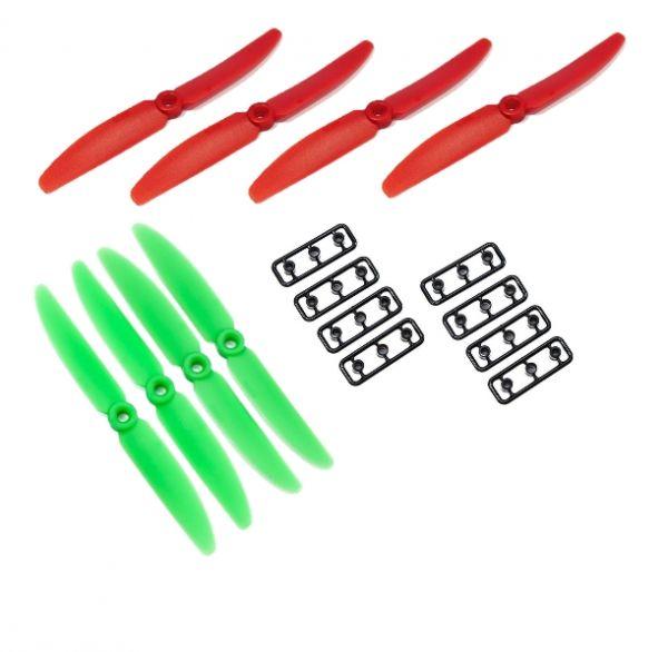 8 x Gemfan 4 x Grün + 4 x Rot 5X3 5030 CW+CCW