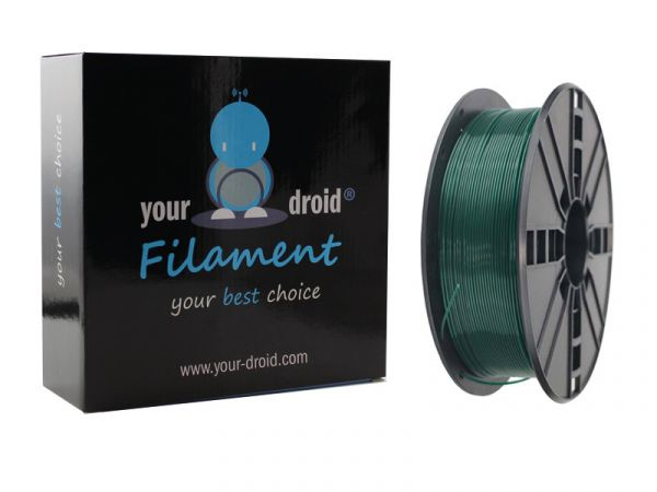 Your Droid ABS Filament Christmas Green 1.75mm 1kg