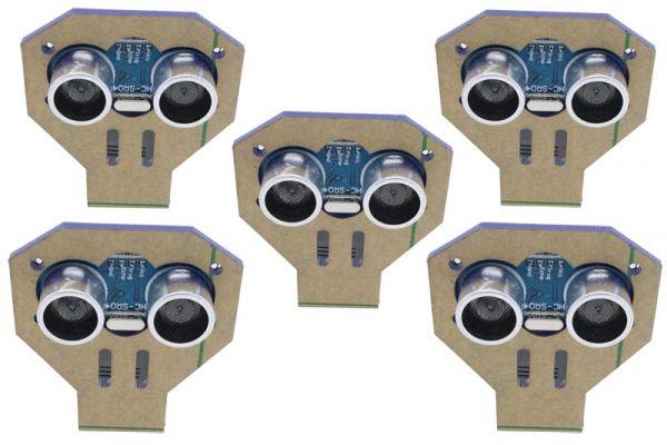 5x HC-SR04 Ultraschall-Modul mit Montagewinkel