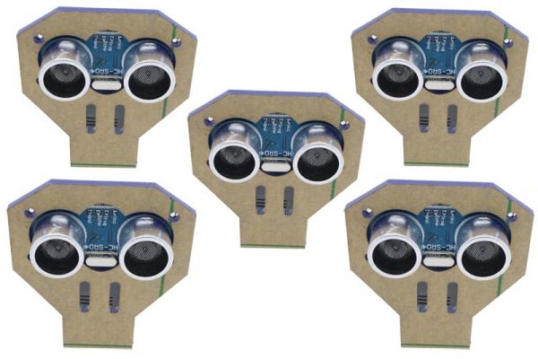 Wasserdicht Ultraschall Entfernungsmesser Sensor Modul : 5er set hc sr04 ultraschall module mit montagewinkel für arduino ect