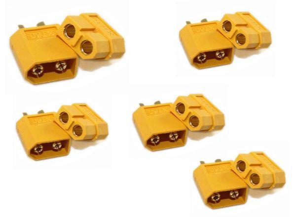 5er Paar XT60 Stecker männlich/weiblich