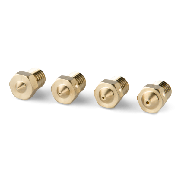 PrimaCreator M6 Messingdüsen Sortiment für E3D/J-Head V6 0.2mm 0.4mm 0.6mm 0.8mm