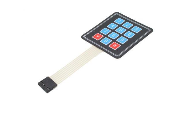 Keypad / Tastenfeld mit 12 Tasten mit Membrantastatur