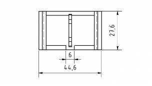 10er Set Winkelabdeckkappe 30 I-Typ Nut 6
