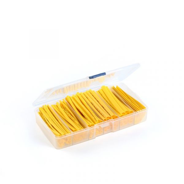 165 Schrumpfschläuche im Sortiment 600V 2mm 3mm 4mm 5mm 6mm 8mm (gelb)