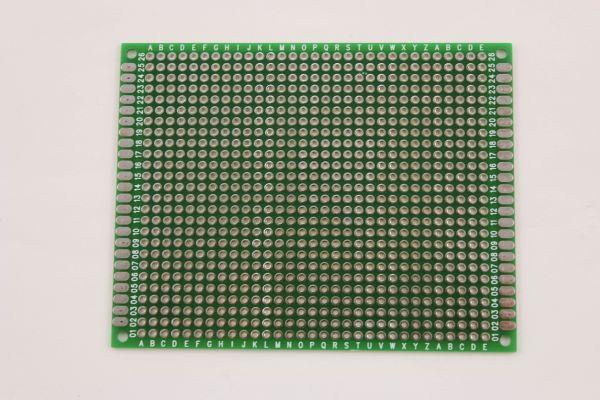 Doppelseitige Lochrasterplatine 9 x 7 cm