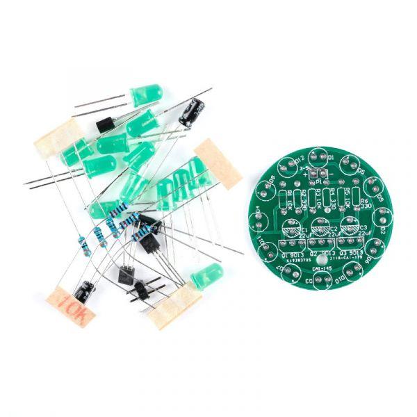 Bausatz: LED-Lauflicht zum Löten (Grün)