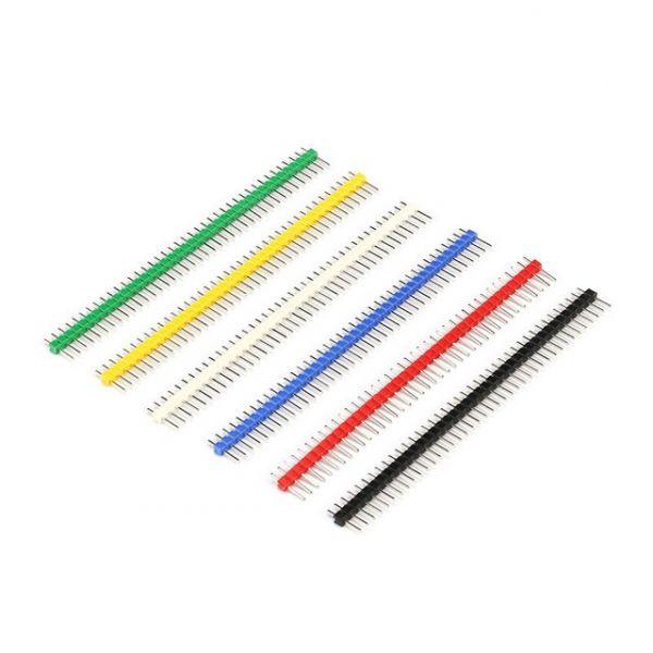 Stiftleisten Sortiment bunt einreihig 40 Pin gerade