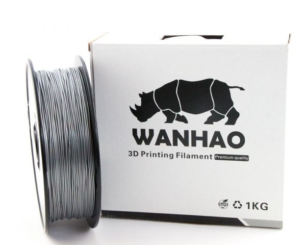 Wanhao PLA Filament Silver 1.75mm