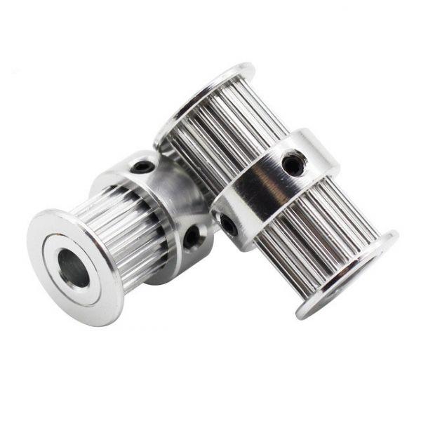 GT2 Doppel Riemenscheibe 20 Zähne 5mm Bohrung für 6mm Zahnriemen