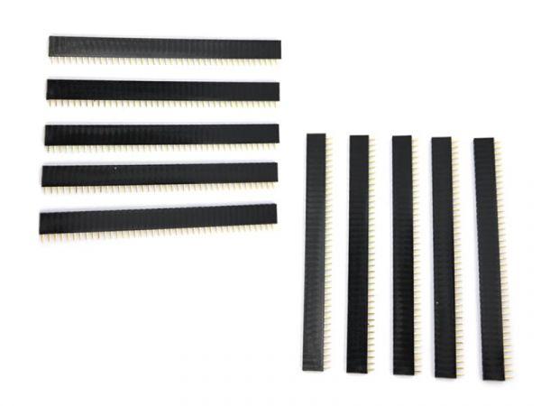 10x 40 Pin 2.54 mm Buchsenleiste einreihig