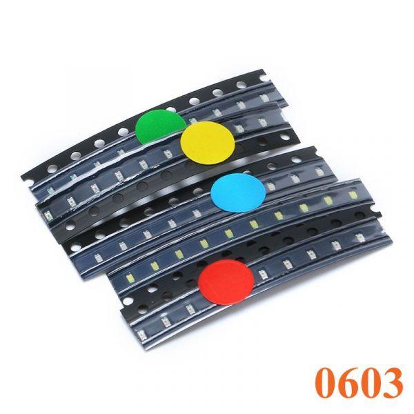 Sortiment SMD LEDs 5 Farben à 10 Stück