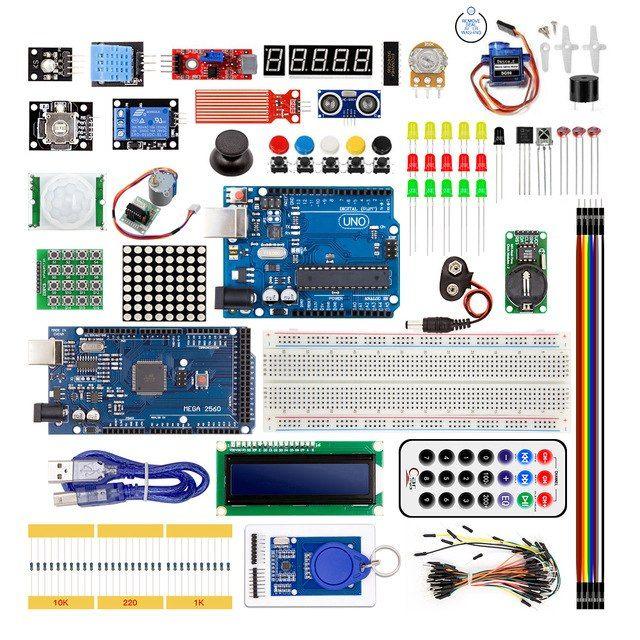 Starter Kit Uno R3 und Mega 2560 Arduino kompatibel im Kunststoffkasten