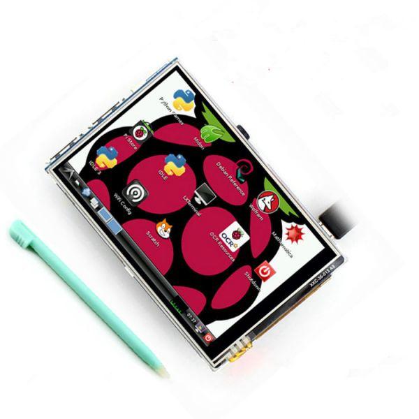 """3.5"""" TFT LCD Touch Screen mit Stylus und Gehäuse für Raspberry Pi 3"""
