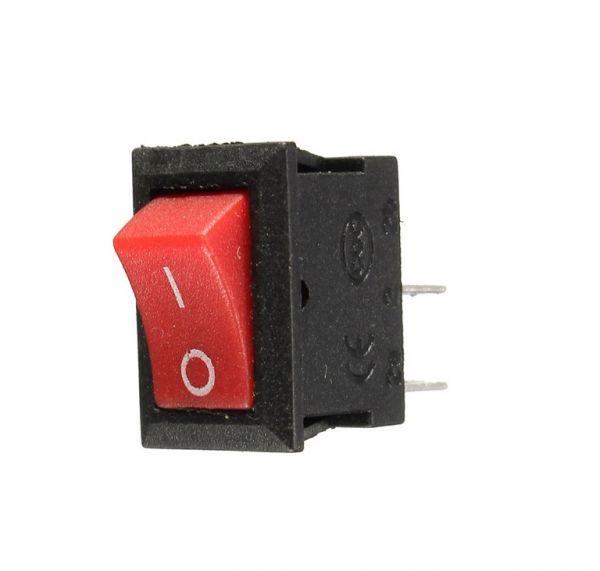 Wippschalter Ein / Aus 250V 6A (rot)