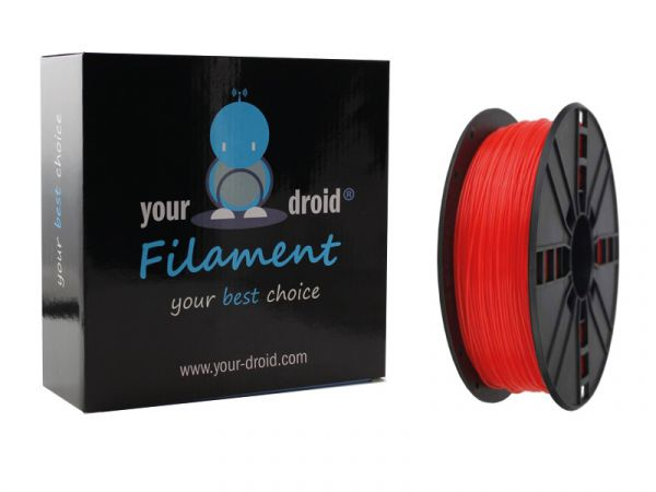 Your Droid ABS-Filament Fluorescent red 1.75mm 1kg