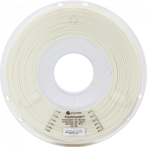 Polysmooth Filament Weiss White 1.75mm 750g