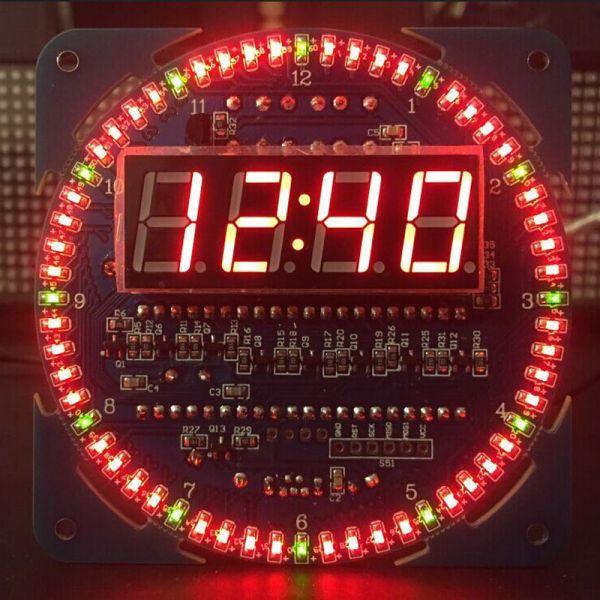 DS1302 Rotation SMD-LED Uhr fertig aufgebaut