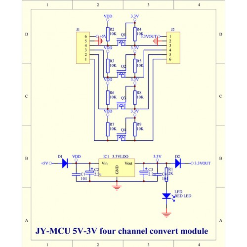 I2c Pegelwandler  Level Konverter 3 3v 5v Bidirektional 4