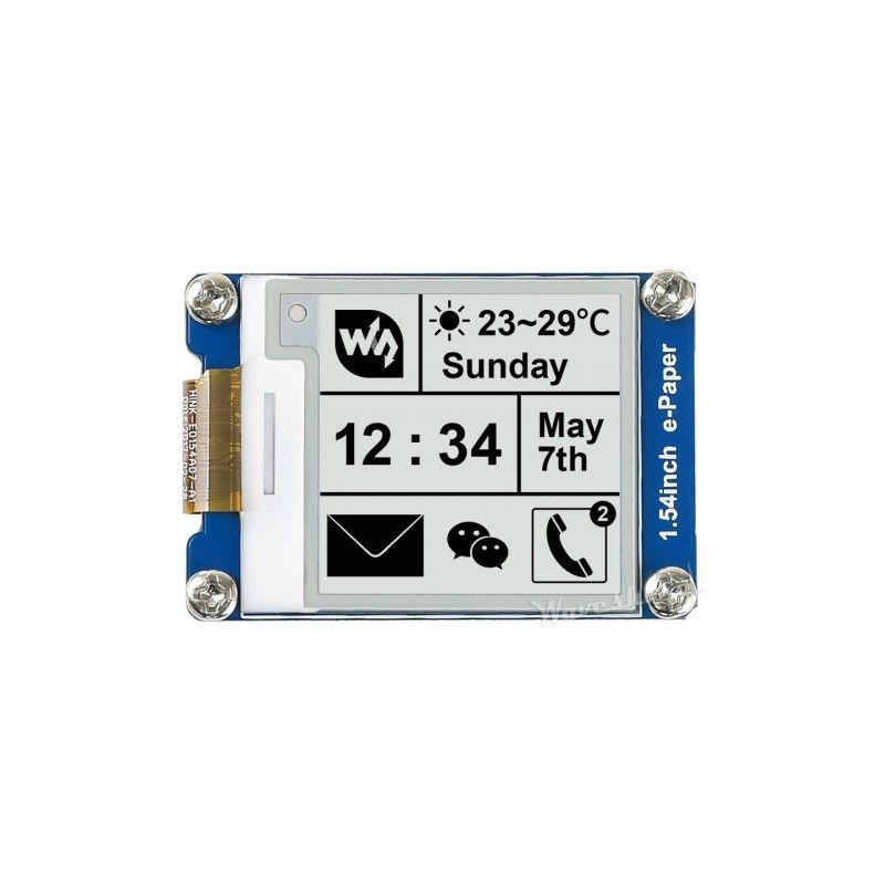 Waveshare 200x200 1-54 e-Paper Display Modul