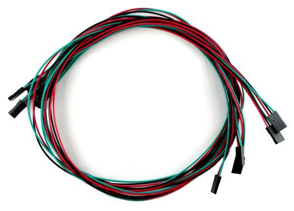 5x 3 Pin Dupont Kabel Buchse-Buchse 70 cm