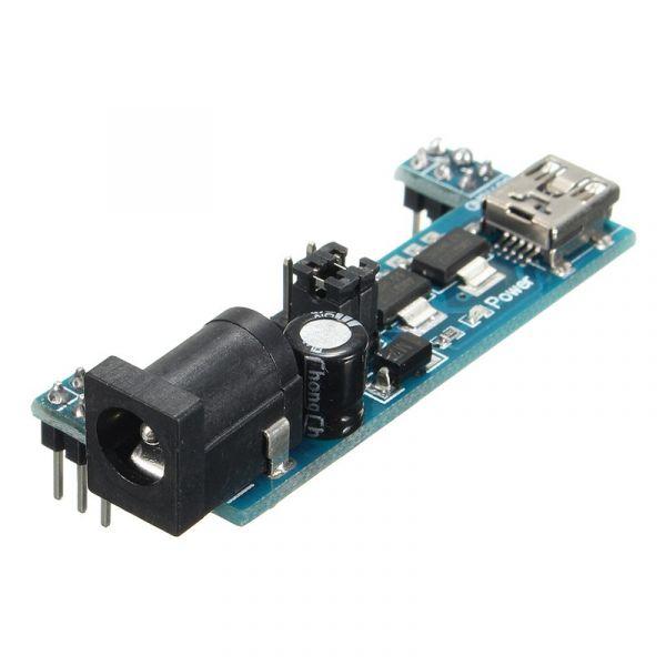 MB102 Stromversorgung für Steckboards - 3,3V und 5V (kompakt)