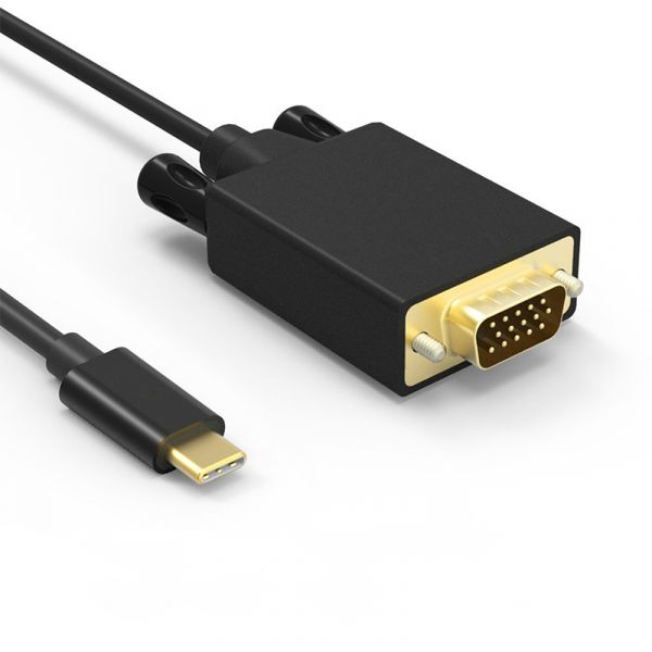 1m USB 3.1 Kabel USB-C zu VGA, Vergoldet, 1920*1080 P/60 HZ