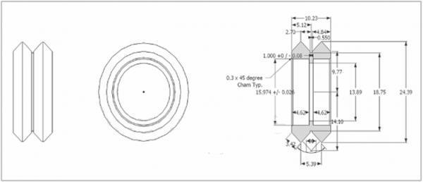 Delrin Dual V Wheel Kit für Openbuilds V-Slot Rail
