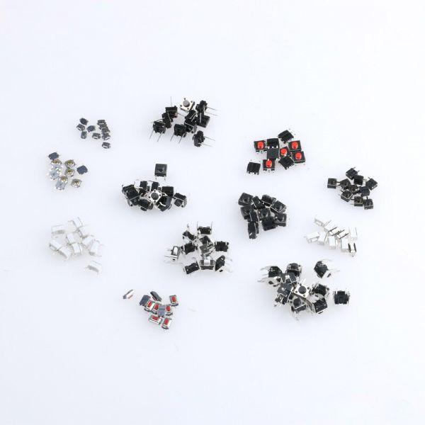 Microschalter / Drucktaster SMD/THT Sortiment 120 Stück 12 Größen