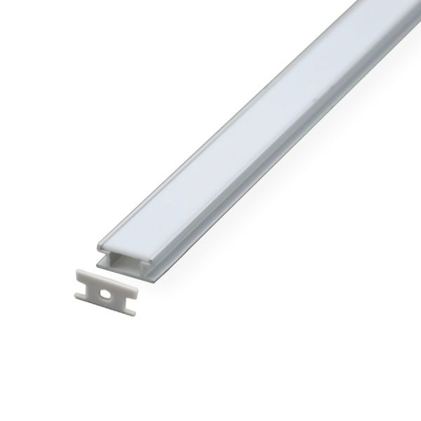 Einbau Aluminiumprofil Schiene Flach 1m