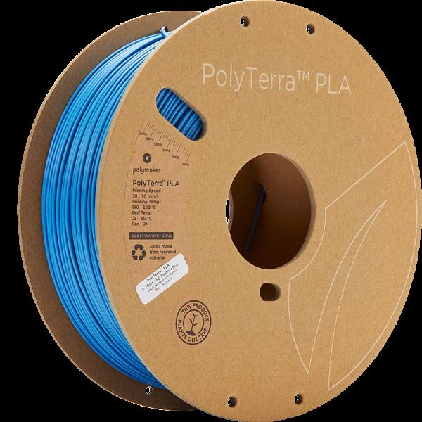 Polymaker PolyTerra PLA Filament Sapphire Blue 1.75mm 1kg