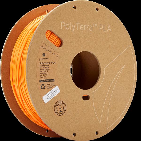 Polymaker PolyTerra PLA Filament Sunrise Orange 1.75mm 1kg