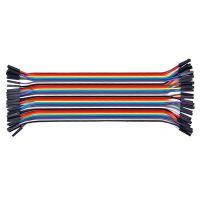40 Pin Dupont / Jumper Kabel Buchse-Buchse 20 cm