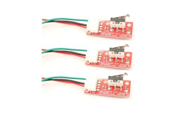 3er Set Mechanischer Endschalter mit 50 cm Kabelsatz 3-Pin für CNC RepRap 3D-Drucker