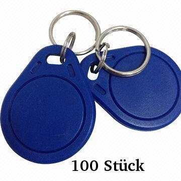 100 x RFID Schlüsselanhänger NFC-Token