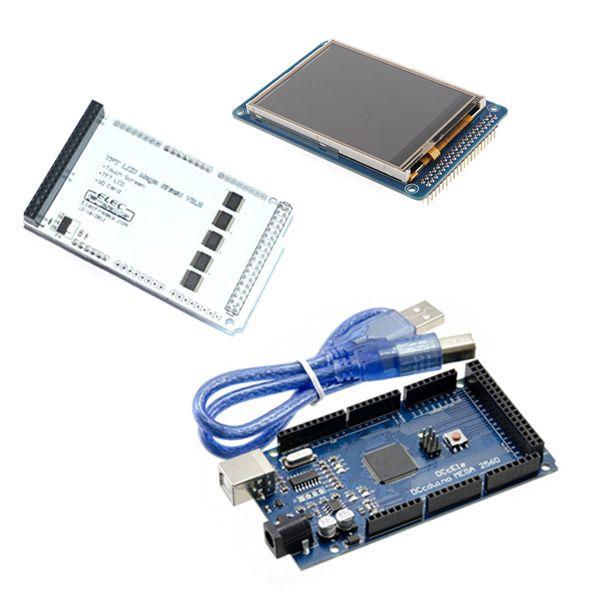 3-2 TFT LCD Kit - Shield + Mega2560 Board + LCD Touchscreen