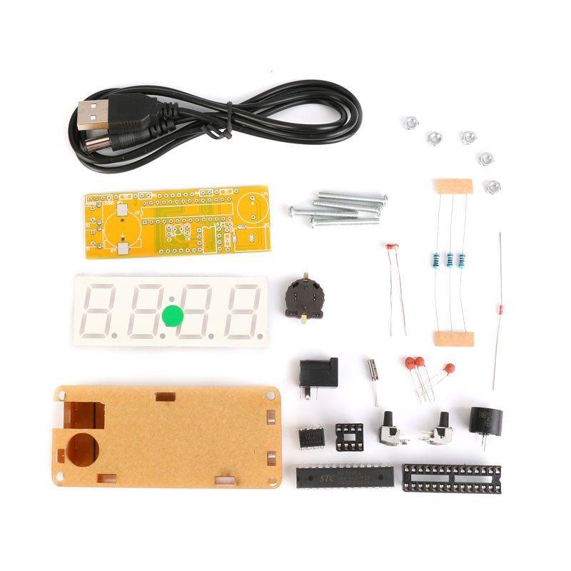 Bausatz: Elektronische Uhr mit 4 Bit Display (Grün)