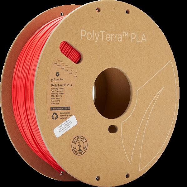 Polymaker PolyTerra PLA Filament Lava Red 1.75mm 1kg