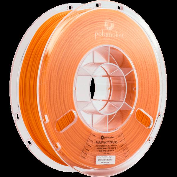 Polymaker PolyFlex TPU95 Filament Orange 1.75mm 750g