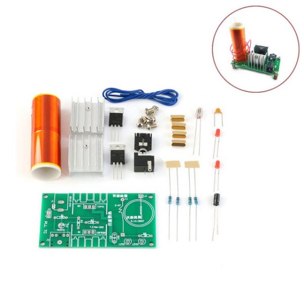 Bausatz Mini Tesla Spule Lautsprecher Transformator 15-24V 15W