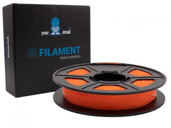 yourDroid TPU filament transparent orange 1.75mm 500g