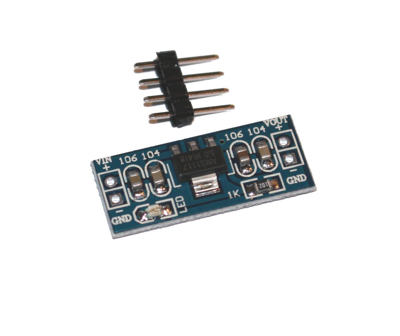 Mini Spannungswandler AMS1117 6-5V-12V auf 5V