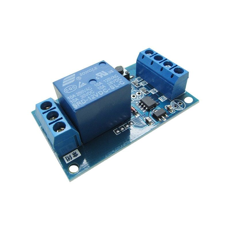 12V Relais Modul mit Start-Stop-Button