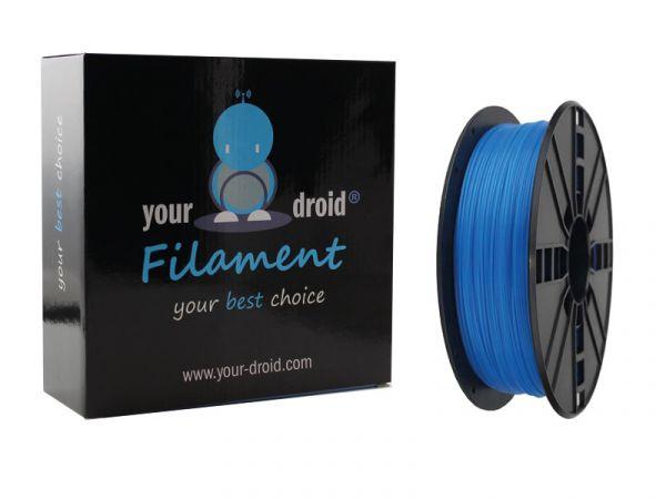Your Droid ABS-Filament Luminous blue 1.75mm (nachleuchtend)