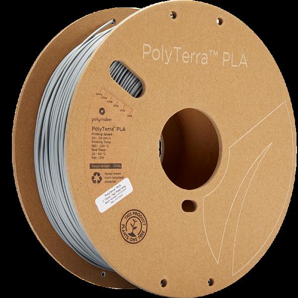 Polymaker PolyTerra PLA Filament Fossil Grey 1.75mm 1kg