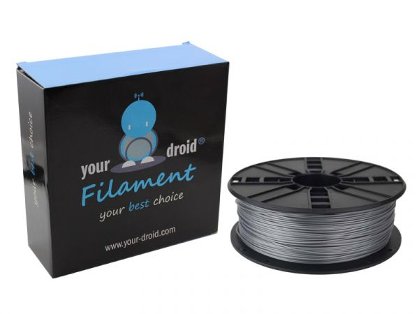your droid filament ABS silver