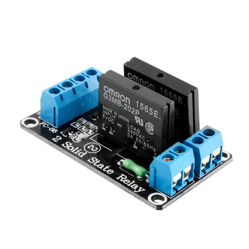 2 kanal solid state relais modul 5v 230vac low level trigger roboter