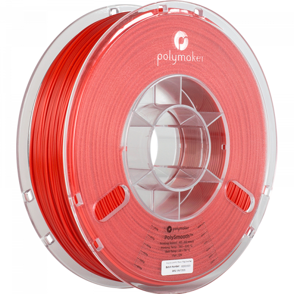 Polymaker Polysmooth Filament Rot Coral Red 1.75mm 750g